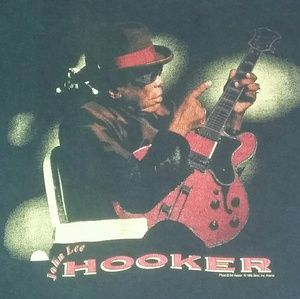 Fruit of the Loom Shirts - 1995 John Lee Hooker Shirt 90s Rock Blues Rap 90s